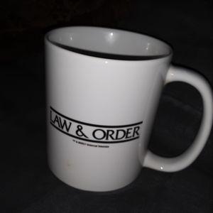Law and Order coffee mug